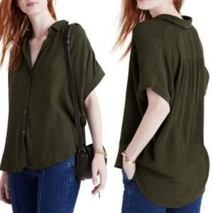 Madewell Central Drapey Shirt Small